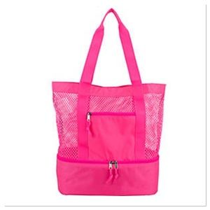 Handbags - New Mesh Tote with Bottom Cooler Compartment